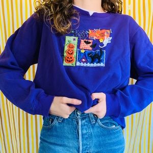 SOLD ON ETSY [vintage] Spooky Halloween Sweatshirt